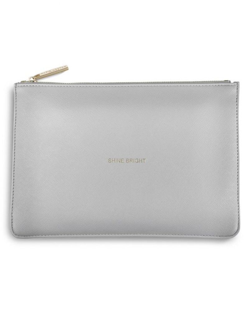 Katie Loxton Shine Bright Pale Grey Perfect Pouch