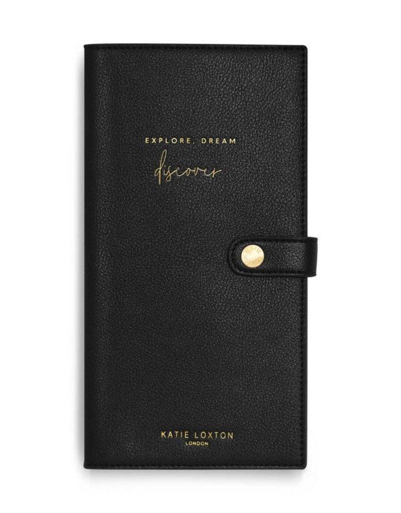 Katie Loxton Travel Wallet Explore Black