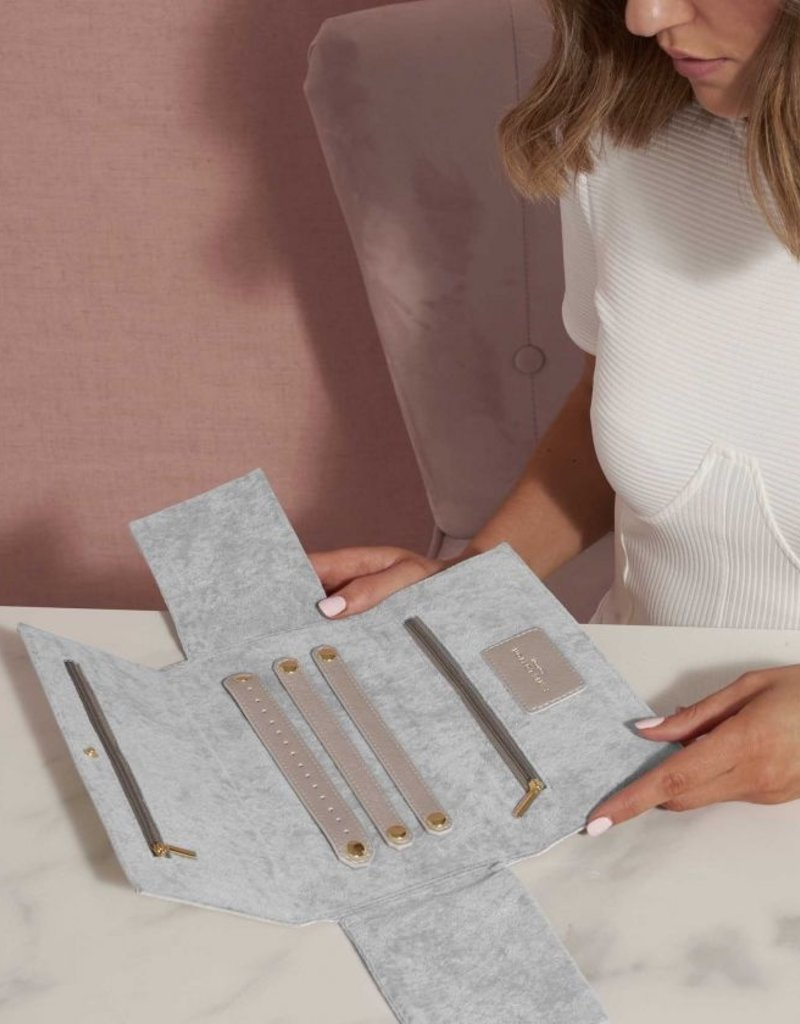 Katie Loxton Jewelry Roll Sparkle Shine Silver