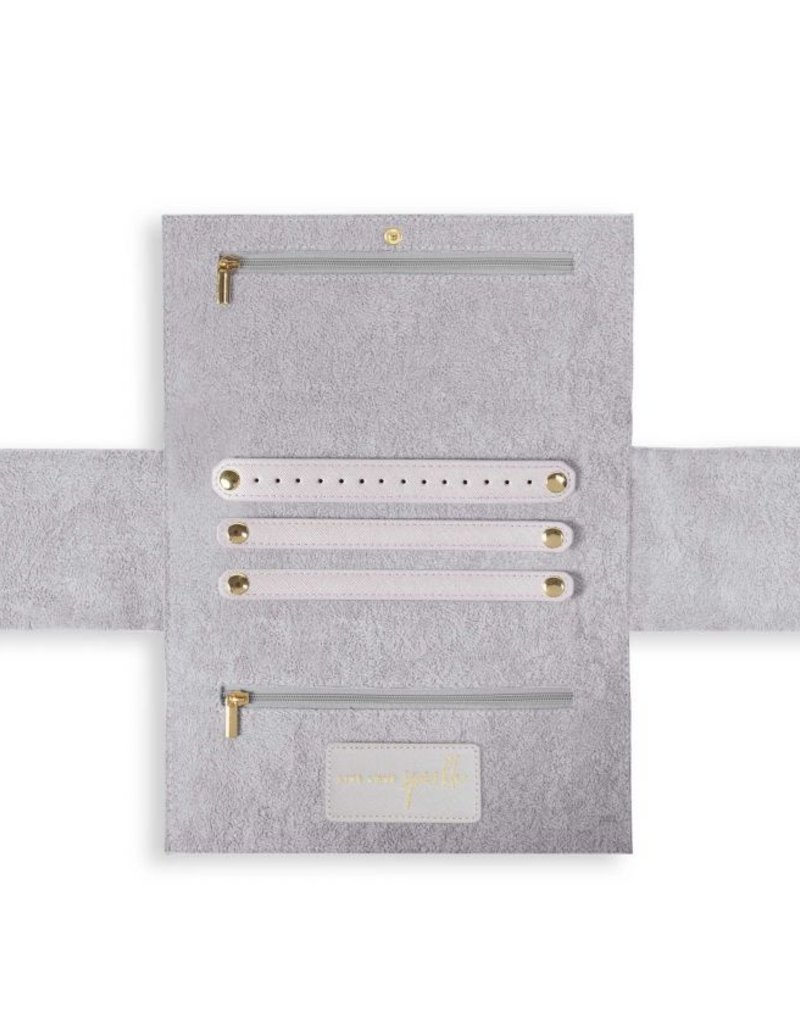 Katie Loxton Soft Pebble Jewelry Roll Stone