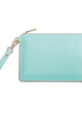 Katie Loxton Secret Message Pouch Be Bright Mint