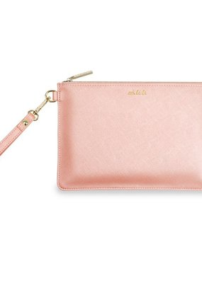 Katie Loxton Secret Message Pouch Ooh La La Peach