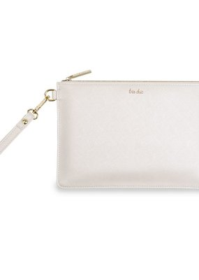 Katie Loxton Secret Message Pouch Tre Chic White