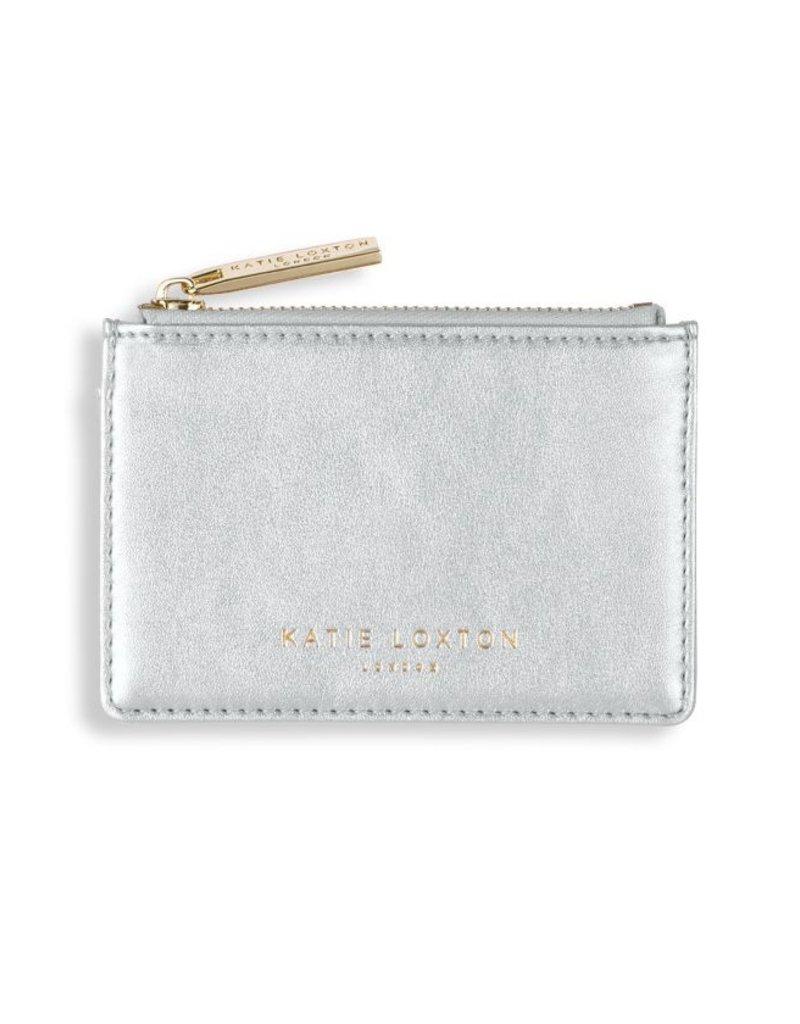 Katie Loxton Alexa Card Holder  Metallic Silver