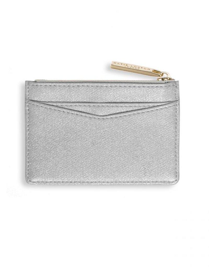 Katie Loxton Alexa Card Holder Silver Shimmer