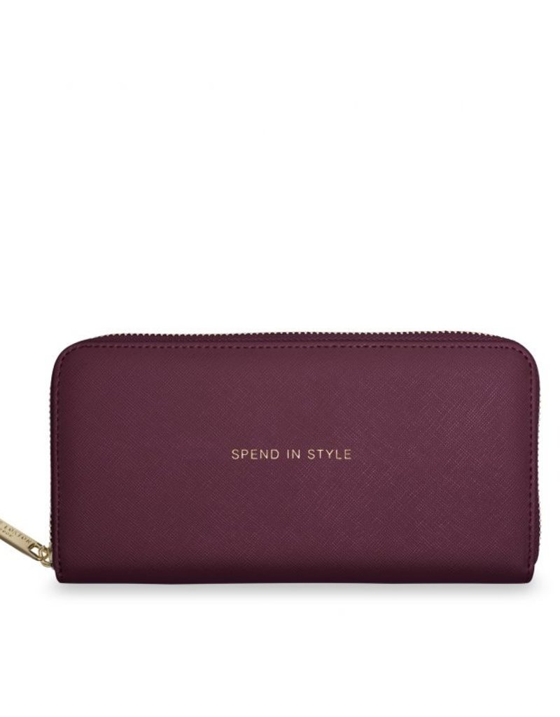 Katie Loxton Large Purse Spend In Style Burgundy