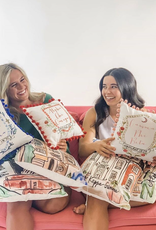 Over the Moon Phi Mu House Pillow