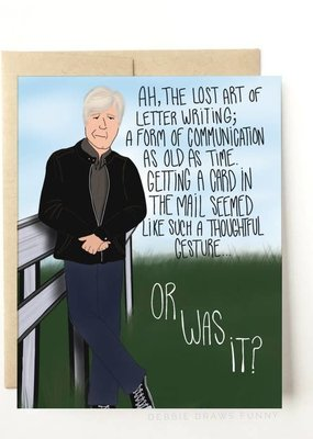 Debbie Draws Funny Keith Morrison Dateline Everyday Card