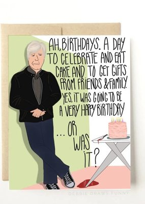 Debbie Draws Funny Keith Morrison Dateline Funny Birthday Card