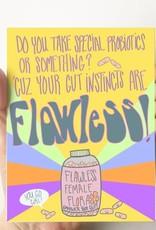 Debbie Draws Funny Flawless Gut Instincts Card