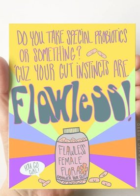 Debbie Draws Funny Flawless Gut Instincts Card