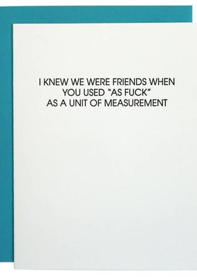 Chez Gagné Unit of Measurement Card