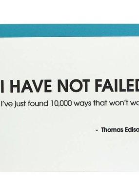 Chez Gagné Thomas Edison Quote Card