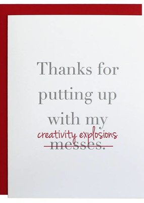 Chez Gagné Creativity Explosions Thank you Card