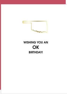 Chez Gagné Wishing You An Okay Birthday Card