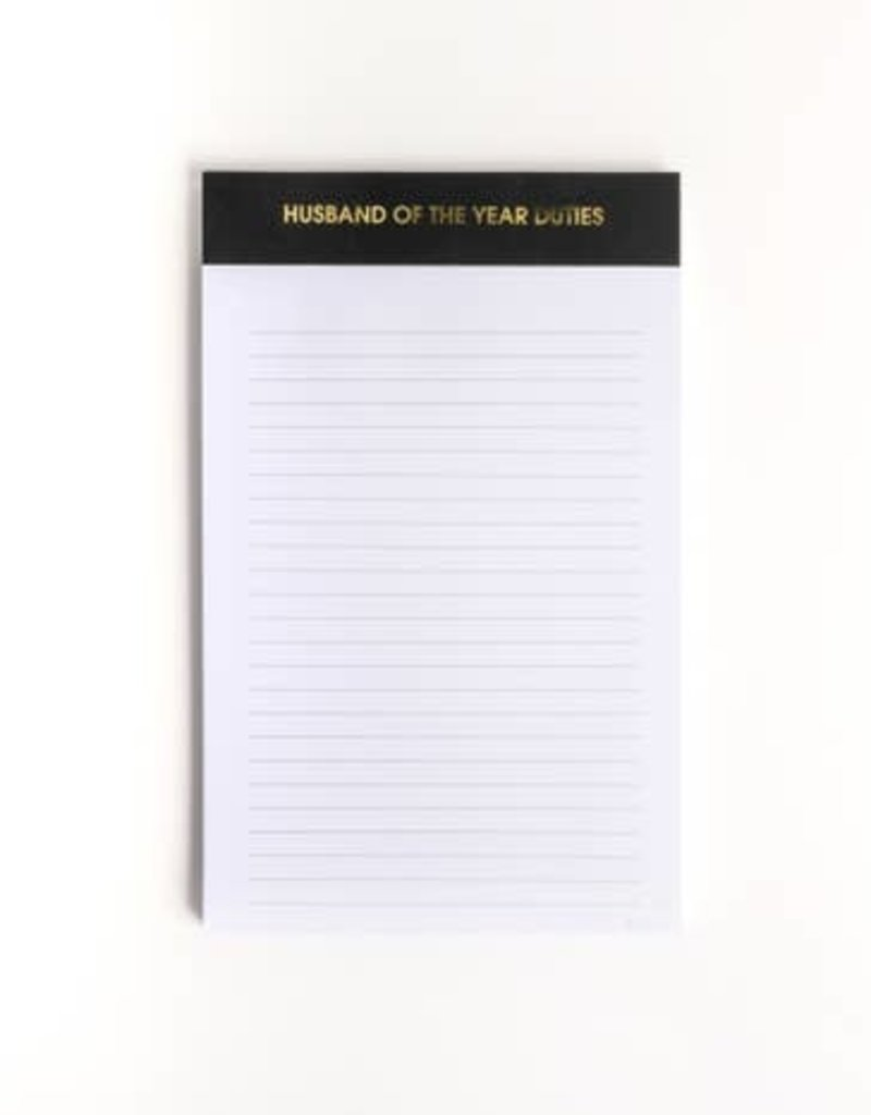 Chez Gagné Husband of the Year Notepad
