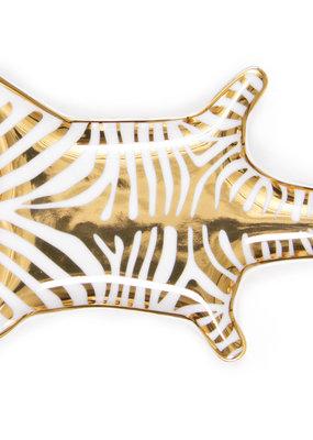 Jonathan Adler Metallic Zebra Dish-Gold