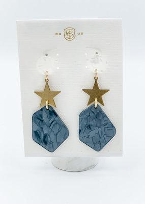 Taylor Shaye Designs Acrylic Star Drops Gray