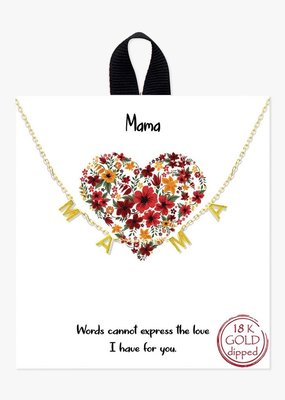 Buffalo Trading Co. MAMA Necklace Gold