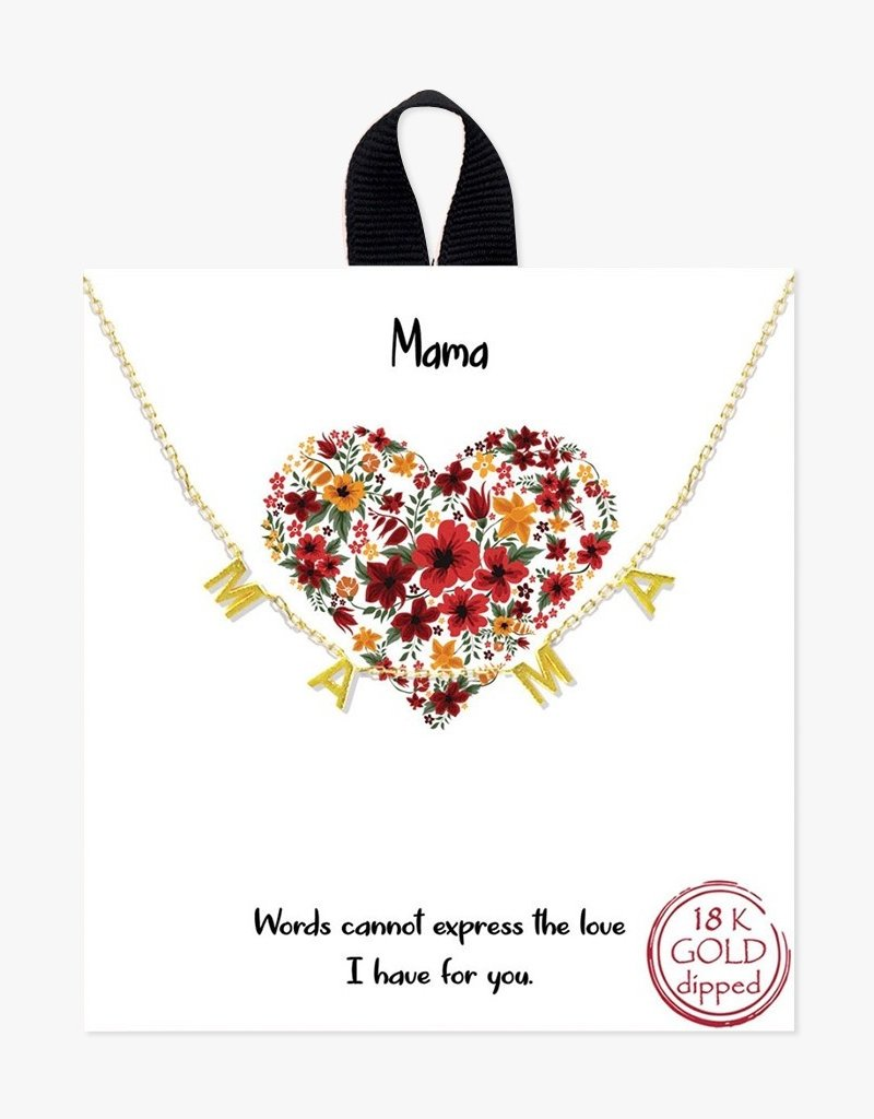 Buffalo Trading Co. MAMA Necklace Gold