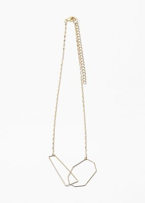 Geometric Shape Necklace Gold