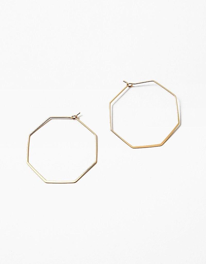 Octogon Hoops Matte Gold