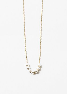 Pearl Pendants Necklace Gold