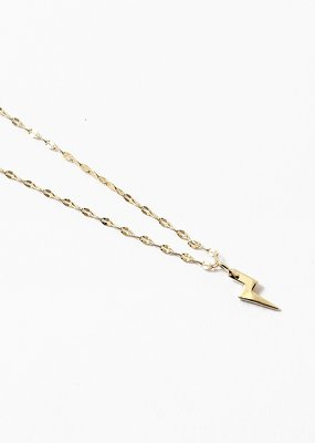 Lightning Bolt Pendant Necklace