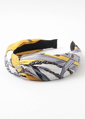 Headband White/Yellow/Grey