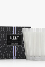 NEST Fragrances Luxury 4 Wick Candle Cedar Leaf & Lavender