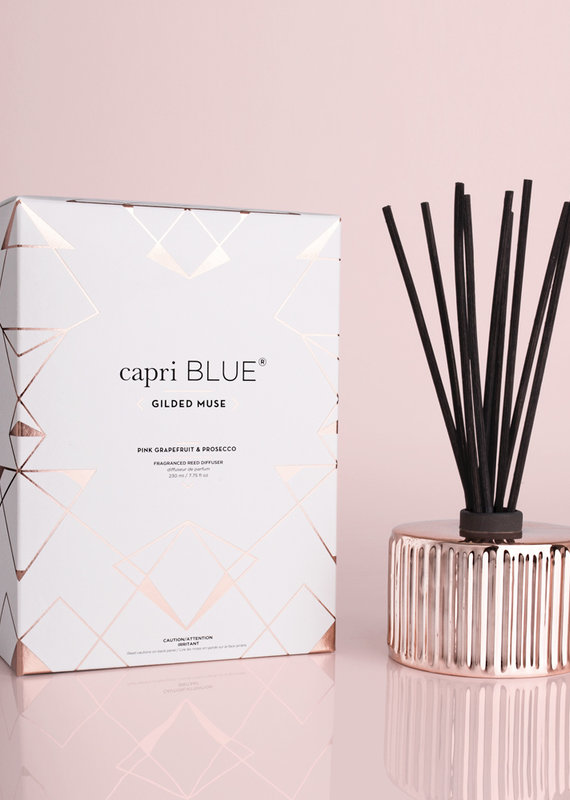 Capri Blue 7.75oz Gilded Diffuser Pink Grapefruit Prosecco