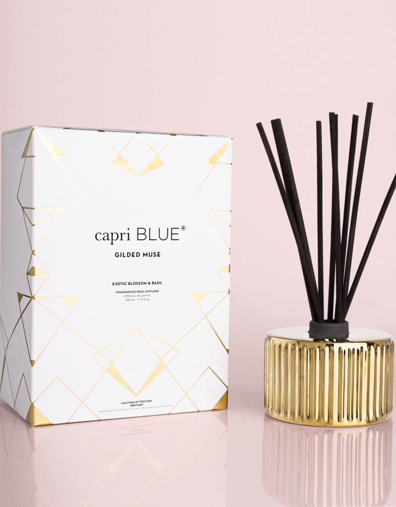 Capri Blue 7.75fl oz Reed Diffuser Exotic Blossom & Basil