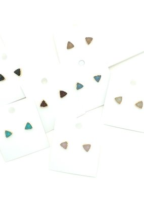 Buffalo Trading Co. Triangle Druzy Earring