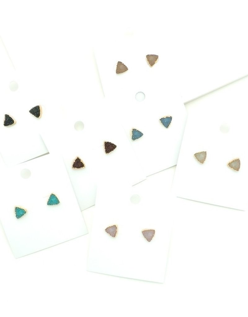 Buffalo Trading Co. Triangle Druzy Earring