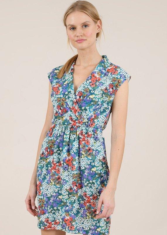 Molly Bracken Printed Pleat Dress