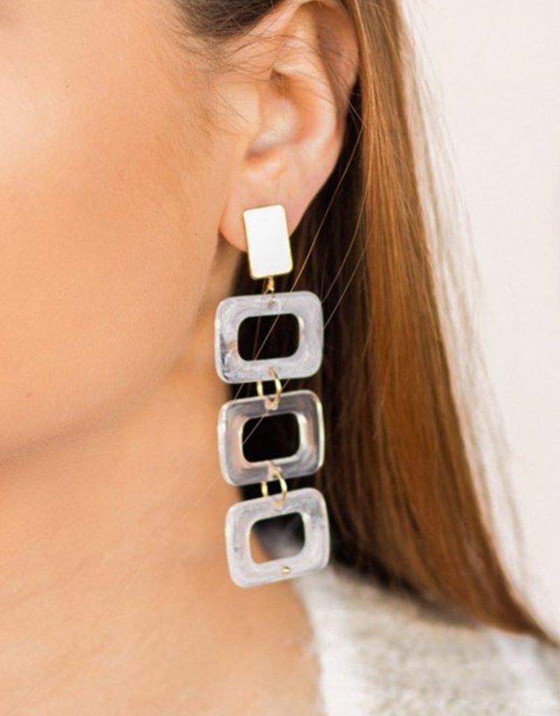 Buffalo Trading Co. Marbled Acetate Drop Earrings