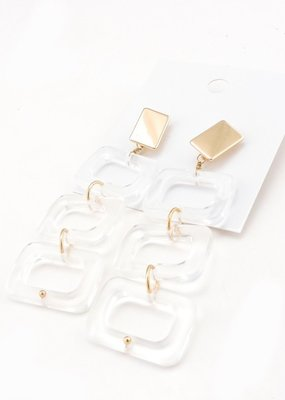 Buffalo Trading Co. Marbled Acetate Drop Earrings