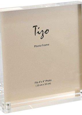 """Acrylic Frame White 4""""x4"""""""
