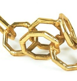 "Metal Chain Link Centerpiece Gold 12.5"""