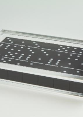 Acrylic Domino Set Black