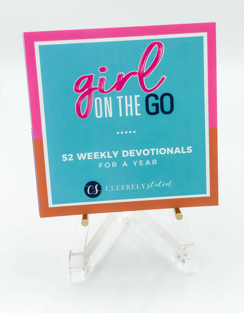 Clearly Stated Girl On The Go Devotional W/ Acrylic Stand
