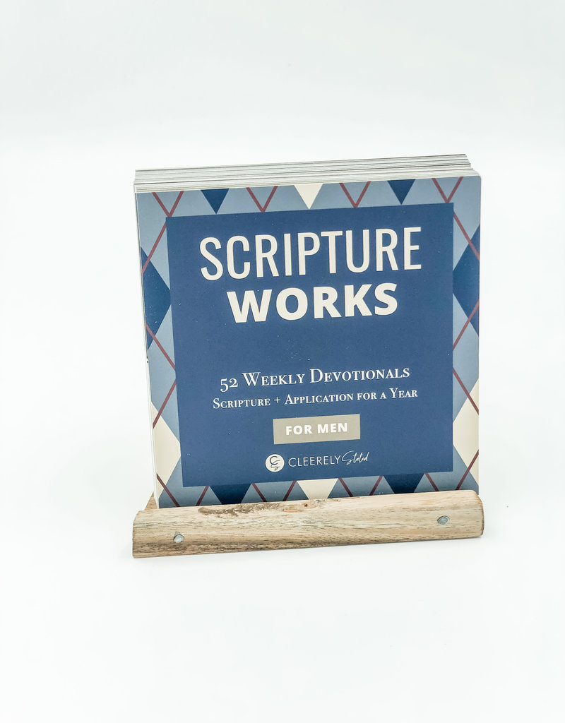 Clearly Stated Men's Scripture Works W/ Wood Stand