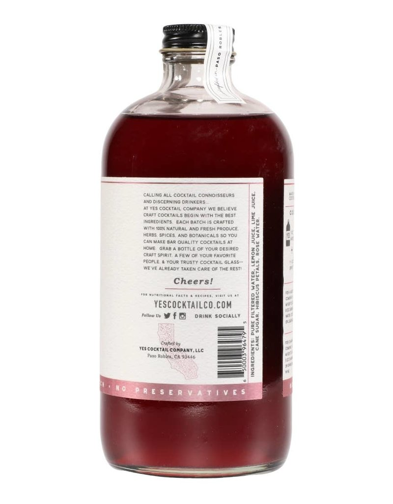 Yes Cocktail Co. Hibiscus Rose Cocktail Mixer 16 fl oz