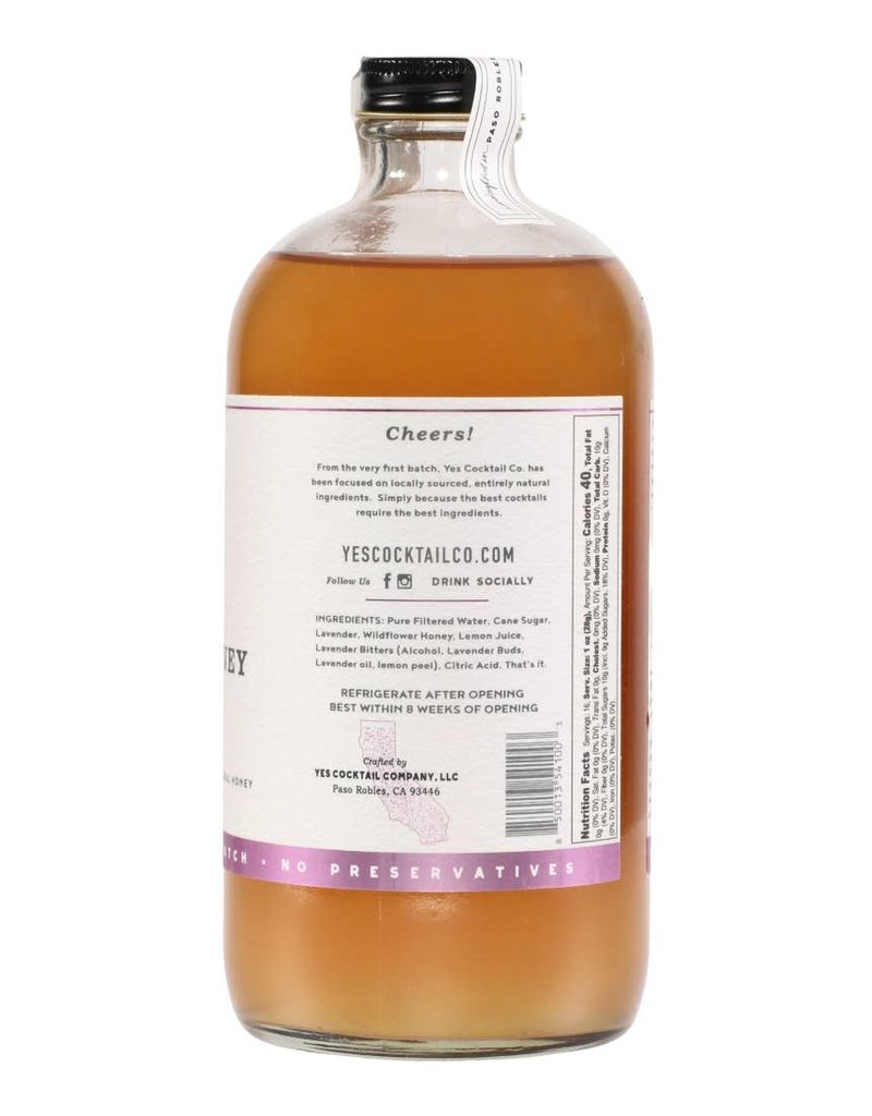 Yes Cocktail Co. Lavender Honey Cocktail Mixer 16 fl oz