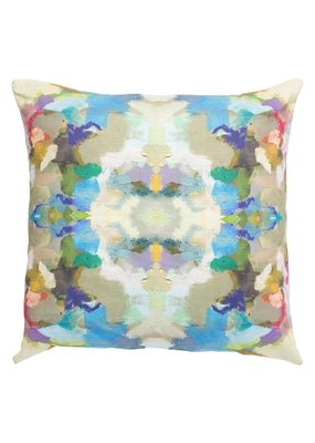 "Laura Park Designs Indigo Girl Blue Outdoor Pillow 20""X20"""