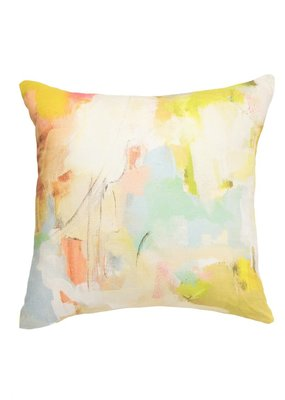 "Laura Park Designs Coral Bay Orange Outdoor Pillow 20""X20"""