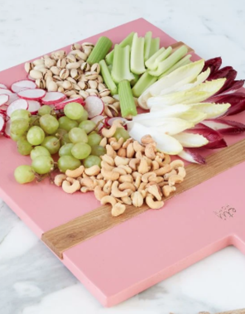 Wooden Nickel Exclusive Rectangle Mod Charcuterie Board, Pink
