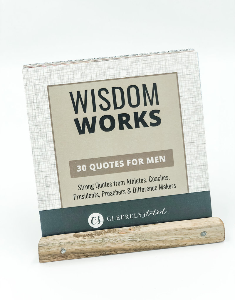 Clearly Stated Men's Wisdom Works W/ Wood Stand