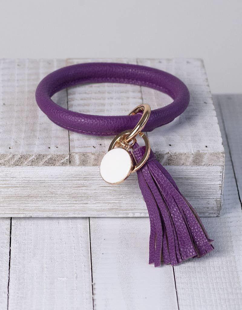 Lauren Lane Halo Tassel Key Ring Purple