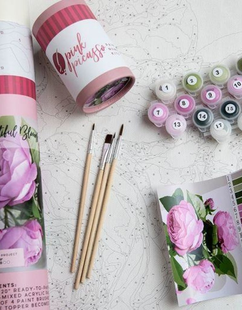 pink picasso Paint By Numbers Kit Beautiful Blooms